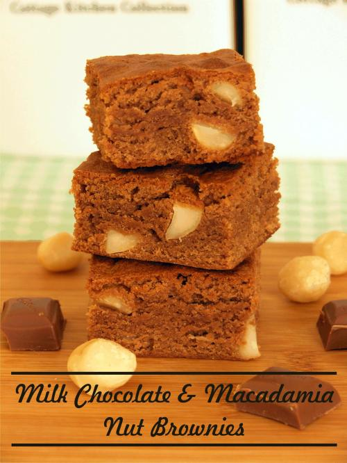 Milk Chocolate and Macadamia Nut Brownies